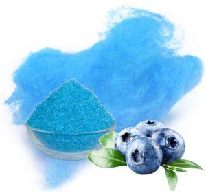 Aromazucker für bunte Zuckerwatte mit Geschmack | Heidelbeere - Blau 100g | Farbzucker Zucker für Zuckerwatte Zuckerwattemaschine Zuckerwattezucker