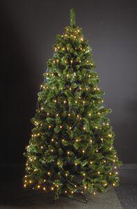 160 LED Trapez Kegel Warmweiß Netz für Weihnachtsbaum Timer 130-170cm Lichternetz