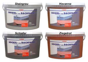 Wilckens 5 L. Sockel- & Dachfarbe, Steingrau Matt, hochdeckende, wetterbeständig