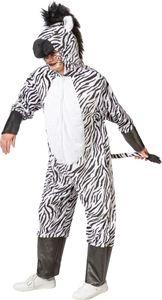 Kostüm Zubehör Overall Zebra mit Kapuze Karneval Fasching  Gr. 160-175cm