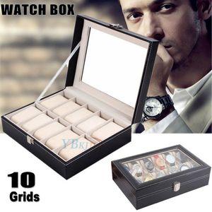 10 Uhr Uhrenbox Uhrenkoffer Uhr Aufbewahrungsbox Uhrenkasten Uhrenschatulle Uhren BOX
