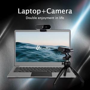 LincPlus Laptop 14 Zoll Intel Celeron N3350 4GB RAM 64GB eMMC mit 1080P Dual Mikrofon Webcam