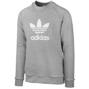 adidas Trefoil Crew Herren Sweatshirt Grau, Größe:L