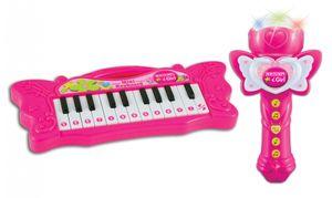 Bontempi tastatur iGirlmit Mikrofon 22 Tasten rosa 26 cm