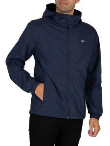 Tommy Jeans Herren Packbare Windbreaker Jacke, Blau XL