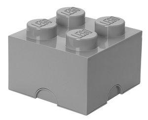 LEGO - Storage Brick 4 steingrau