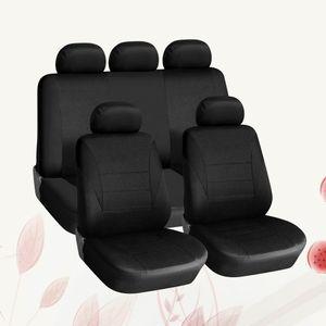 9 Stücke 5 Sitze Autositzbezüge Universal Auto Sitzbezug Verschlei?feste Staubdicht Autositz Schutzmatte Autoinnenausstattung (Schwarz)