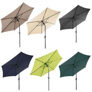 LEX Sonnenschirm mit Knick-Funktion, Ø 2,5 m, Farbe:Taupe