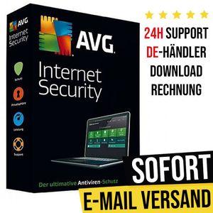 AVG Internet Security 2021 | 1 Gerät | 1 Jahr | Vollversion | Versand per E-Mail