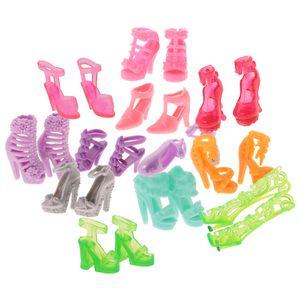 12 Paar mode Schuhe Puppendschuhe Set Bekleidung für  Puppe Dress up Zubehör