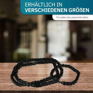 5 mm Königskette Armband Herrenkette Männer Kette Halskette, 50 cm Schwarz Edelstahl Ketten