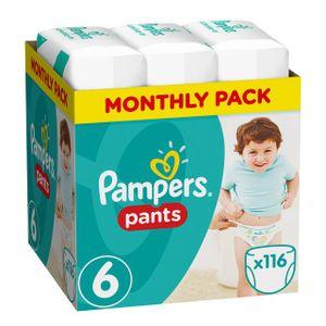 Pampers Baby Dry Pants Gr.6 Extra Large 15+kg MonatsBox, 116 Stück - Größe 6 - 116 Stück