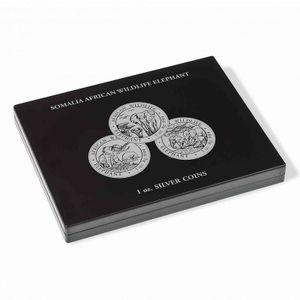 Münzkassette für 20 Somalia Elefant Silbermünzen