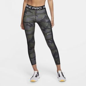 Nike W Np Tight 7/8 Pp2 Camo Thunder Grey/Black/White S