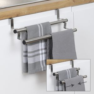 Küchen Handtuchhalter Handtuchstange Türregal Halter Regal verchromt ausziehbar 25-40cm