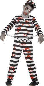 Halloween Horror Kinder Kostüm Zombie Sträfling Gr.12 bis 14 Jahre