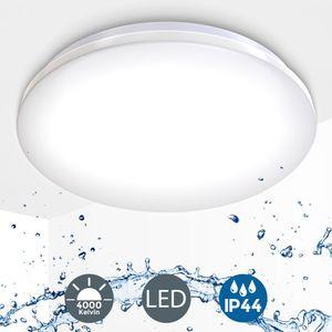LED Deckenleuchte wasserfest IP44 inkl. 12W 1200 Lumen LED-Platine 4000 Kelvin neutralweiß Badezimmer Balkon B.K.Licht