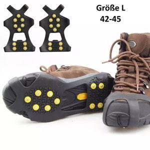 Anti-Rutsch Schuhspikes EU 42-45 (L), Eiskrallen, Schuhkrallen, Gleitschutz, Spikes für Schuhe