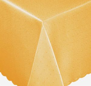 Tischdecke 130x160 cm gelb eckig Mitteldecke Punkte bügelfrei fleckenabweisend