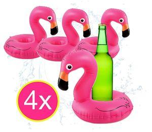 4x aufblasbarer schwimmender Getränkehalter Halter Flamingo Luftmatratze