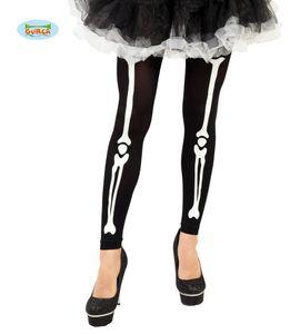 Fiestas Guirca leggingskelett Damen Polyamid schwarz/weiss Einheitsgrösse