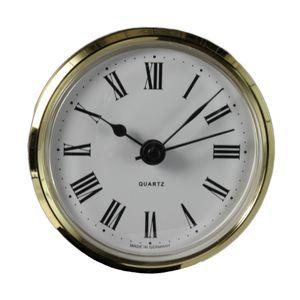 Uhrwerk Einsteckuhrwerk Einbau-Uhr Modellbau-Uhr Quartz Uhrwerk Ø 66 mm Lunette Gold