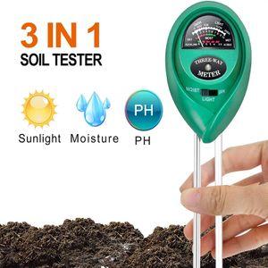 Bodentester, Boden Feuchtigkeit Meter, 2-in-1 Pflanze Tester, Bodenmessgerät Feuchtigkeitsmesser und Boden pH Tester für Pflanzenerde, Garten, Bauernhof, Rasen