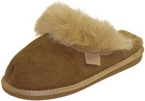 Extra dicke Lammfell Pantoffeln für Damen , Farben:beige, Schuhgröße:39