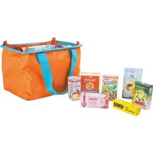 Tanner 9548 Einkaufstasche mit Kaufladenzubehör, orange (1 Stück)