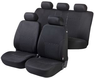 Walser Autositzbezug DotSpot Premium Komplettset grau/schwarz, 11939