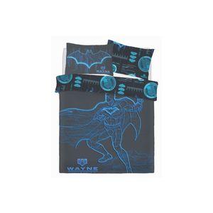 Batman Wayne Industries Panel Bettwäsche-Set SI452 (Doppelbett) (Blau)