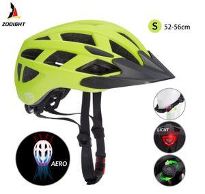Neue Kinderhelm Fahrradhelm Schutzhelm mit LED Kinder Junior Fahrrad Helm | Spielwerk, Farbe/Größe:Grün-Schwarz S