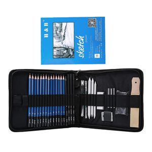 Skizze Bleistift Set, Skizzierstifte für Skizzen Zeichnen mit Papierstifte Bleistifthalter Spitzer Radier für Kinder Erwachsene