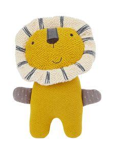 Bieco Kuscheltier Löwe | 19 cm | Löwe Kuscheltier Gehäkelt | Weicher Baby Stofftier Löwe zum kuscheln | Senfgelbes Löwen Kuscheltier Baby | Gehäkeltes Kuscheltier für Babys | Baby Kuscheltiere