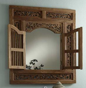SIT Möbel Wand-Spiegel mit 2 Flügeltüren | Teak-Holz natur | B 80 x T 5 x H 90 cm | 06291-01 | Serie SEADRIFT
