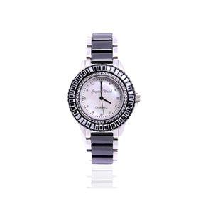 Keramik-Uhr mit Swarovski-Kristallen   - CW 0004 M Blue Pearls