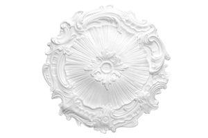 1 Rosette | Decke | Innendekor | Stuck | EPS | Nachbildung | 40cm | R-7, Farbe:weiß