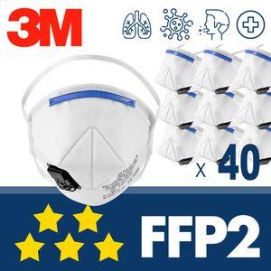 40x 3M K112 FFP2 mit Ventil - CE Atemschutzmaske