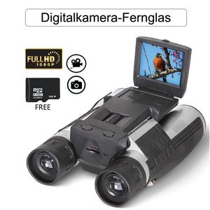 Fernglas Digitalkamera Binokular mit Kamera 2 Zoll LCD Display 1080p Faltendem Prisma 12x32 5MP Video-Fotorecorder mit er 8 GB TF-Karte für Naturbeobachtung konzert Fußballspiels