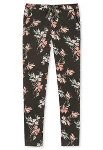 SCHIESSER Damen Jerseyhose lang - Uni, Mix+Relax, Single Jersey, Flower Oliv Grün L
