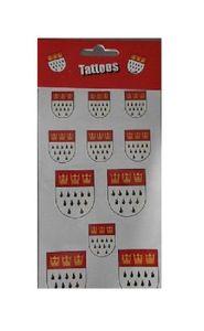 Ma202873 rot-weiß Köln Wappen Tattoos