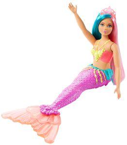 Barbie Dreamtopia Meerjungfrau Puppe (türkis- und pinkfarbenes Haar), Anziehpuppe