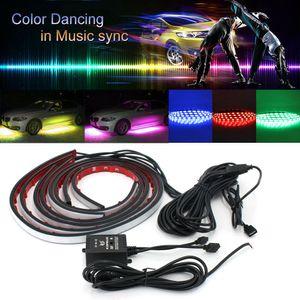 4x RGB LED Unterbodenbeleuchtung Atmosphäre Neon Licht Unterwagen Musik Remote