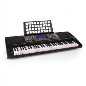 Schubert Etude 450 USB - Keyboard, Lern-Keyboard, 61 Tasten, Leuchttasten, Aufnahme-Funktion, Playback-Funktion, AUX, USB-MIDI, 65 Demo-Songs, 32 Speicherplätze, schwarz