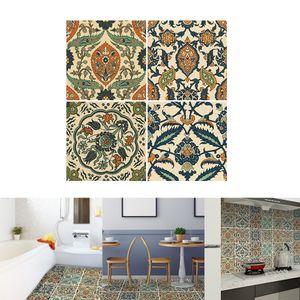 Bodenaufkleber Fliesenoptik 50 x 50 cm selbstklebend Fliesenaufkleber Fliesen 50x50cm Mehrfarbig Style-04 geometrisch