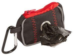 Kerbl Tasche für Kotbeutel schwarz/rot, 8x5,5x4cm; 80820
