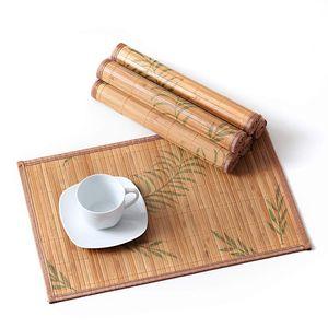 LOVECASA Bambus Platzset, 6 tlg. Set Tischmatte, 45 x 30 cm