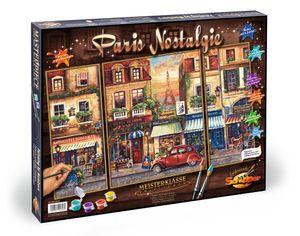 Noris Spiele Malen nach Zahlen - Paris Nostalgie (Triptychon); 609260626