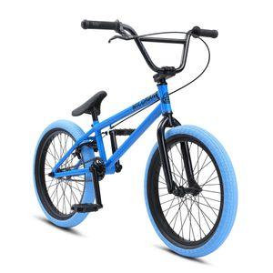 SE Bikes Wildman 20 Zoll BMX Rad Bike Freestyle Fahrrad Stunt Jugendfahrrad oldschool, Farbe:blau