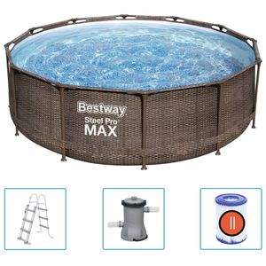 Bestway Steel Pro MAX Swimmingpool-Set Deluxe Series Rund 366x100 cm